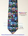 Necktie with Stained Glass Images- Israel