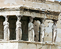 Erechtheion's six massive female statues, the famous Caryatids