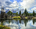 Schwabacher Road Mountain Panorama