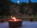 KBarS Lodge campfire with full moon