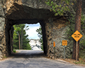 Mount Rushmore framed by Tunnels on Wild Life Loop Road
