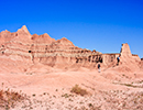 Hiking in the Badlands rugged terrain