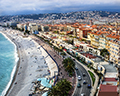 The Promenade des Anglais, Old Town-Vieux Nice, and Baie des Anges (Bay of Angels)