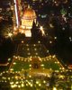 Bahai Gardens in Haifa at night