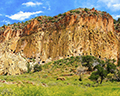 Bandelier National Monument Ancient Pueblo Cliff Caves Panoramic View