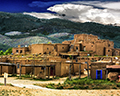 Thunderstorm over Taos Pueblo South House