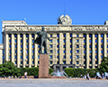 House of Soviets and Lenin Statue