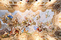 Marble hall ceiling fresco from 1731: Pallas Athena on a chariot