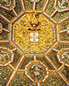 National Palace Stag Room Ceiling-King Coat of Arms