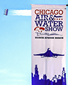 Air and Water show Banner and Blue Angels