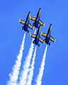 Navy Blue Angels Diamond Close Formation