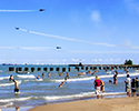 Navy Blue Angels Stunts over North Avenue Beach