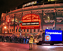 Congratulatons Cubs and Crowd Gathers For Parade