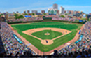 Cubs vs Boston Red Sox Panoramic View of Wrigley Field