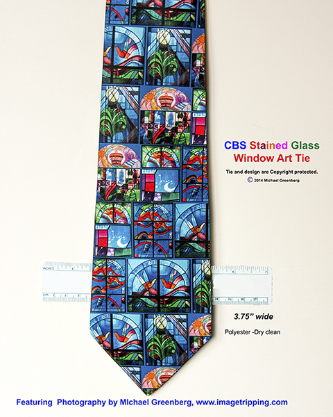 stained glass necktie