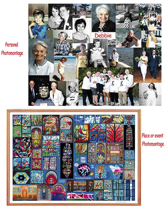 Framed photos, photomontages, Israel, Europe, Asia, USA ...